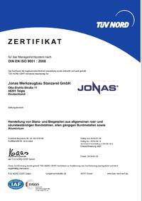 Zertifikat DIN EN ISO 9001 DE